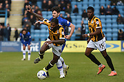 Port Vale midfielder Anthony Grant and Port Vale forward JJ Hooper during the Sky Bet League 1 match between Gillingham and Port Vale at the MEMS Priestfield Stadium, Gillingham, England on 16 April 2016. Photo by Martin Cole.