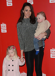 Faith Michelle Hanley, Michelle Heaton and Aaron Jay Hanley attend Big Hero 6 3D Gala Film Screening at The Odeon, Leicester Square, London on Sunday 18 January 2015