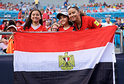 CHARLOTTE, USA - Sunday, July 22, 2018: A Liverpool supporters with an Egyptian flag during a preseason International Champions Cup match between Borussia Dortmund and Liverpool FC at the  Bank of America Stadium. (Pic by David Rawcliffe/Propaganda)