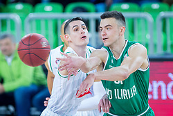 Zan Mark Sisko of KD Ilirija during basketball match between KK Petrol Olimpija and KK Ilirija in 1st Round of Nova KBM Basketball League 2017/18, on December 29, 2017 in Arena Stozice, Ljubljana, Slovenia. Photo by Ziga Zupan / Sportida