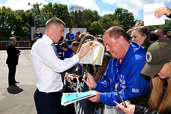 Everton's James McCarthy signs autographs for fans on arrival at Goodison Park  - Mandatory byline: Matt McNulty/JMP - 15/05/2016 - FOOTBALL - Goodison Park - Liverpool, England - Everton v Norwich City - Barclays Premier League