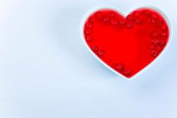 Raspeberry Jelly in Heart Shaped Bowl