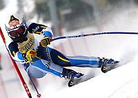 Alpint: Verdenscup WC. 22.12.2001 St.Moritz, Schweiz,<br />Die Italienerin Daniela Ceccarelli am Samstag (22.12.2001) beim Ski Alpin Weltcup Super-G der Damen im schweizerischen St.Moritz. <br /><br />Foto: Digitalsport