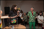 LEAH CAPALDI; ROBIN KLASSNIK, Matt's Gallery 35th birthday fundraising supper.  42-44 Copperfield Road, London E3 4RR. 12 June 2014.