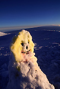 Snowman, Mauna Kea, Island of Hawaii, Hawaii, USA<br />