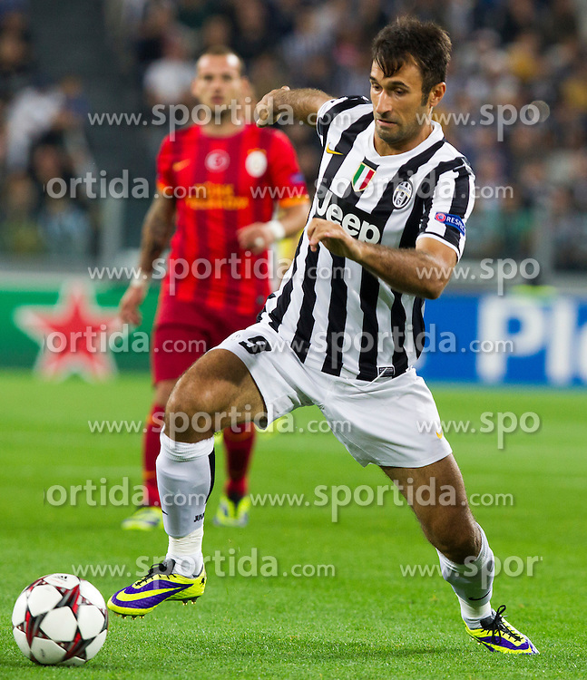 Torino, 02.10.2013: Mirko Vucinic during UEFA Champions League 2013-2014 match between Juventus and Galatasaray.  Photo Primoz Lovric / LPhoto / Sportida