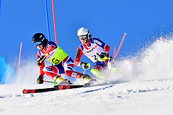 SIMPSON Neil, Guide: SIMPSON Andrew, B3, GBR, Slalom at the WPAS_2019 Alpine Skiing World Cup, La Molina, Spain