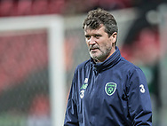 FOOTBALL: Assistant coach Roy Keane (Ireland) during warm-up before the World Cup 2018 UEFA Play-off match, first leg, between Denmark and the Republic of Ireland at Parken Stadium on November 11, 2017 in Copenhagen, Denmark. Photo by: Claus Birch / ClausBirch.dk.