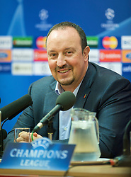 LIVERPOOL, ENGLAND - Monday, November 3, 2008: Liverpool's manager Rafael Benitez during a press conference at Anfield ahead of the UEFA Champions League Group D match against Club Atletico de Madrid. (Photo by David Rawcliffe/Propaganda)