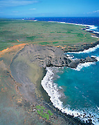 Green Sand Beach, South Point, Island of Hawaii, Hawaii, USA<br />