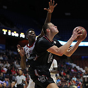 Laimonas Chatkevicius, South Carolina, drives to the basket during the St. John's vs South Carolina Men's College Basketball game in the Hall of Fame Shootout Tournament at Mohegan Sun Arena, Uncasville, Connecticut, USA. 22nd December 2015. Photo Tim Clayton