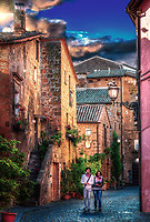 """Evening walk on the ancient cobbled streets of Orvieto""...<br />