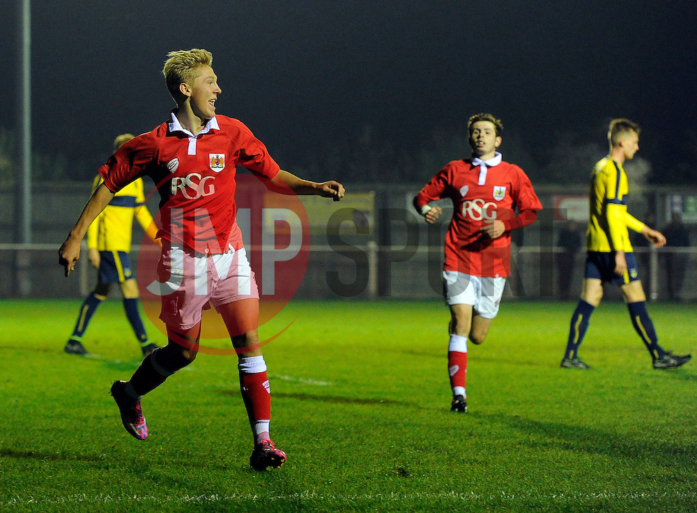 Bristol City's Jake Andrews celebrates  - Photo mandatory by-line: Joe Meredith/JMP - Mobile: 07966 386802 - 05/11/2014 - SPORT - Football - Oxford - Loop Meadow Stadium - Oxford United v Bristol City - FA Youth Cup