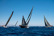 Proteus sailing in the  Corfu Challenge, day one.