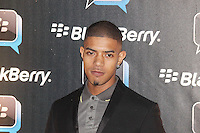 Fazer was attending Blackberry's BBM Event - a celebration of the smartphone's free instant messaging app. The Bankside Vaults, London, UK. April 03, 2012. (Photo by Brett Cove)
