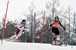 GOLUZA Eva B3 CRO Guide: ZIGMAN Ana competing in the ParaSkiAlpin, Para Alpine Skiing, Slalom at the PyeongChang2018 Winter Paralympic Games, South Korea.