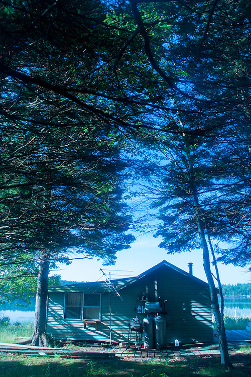 Cabin, Sheep Island, Castine, Maine, US