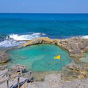 Natural pool at North beach, Isla Mujeres, Quintana Roo. MX.