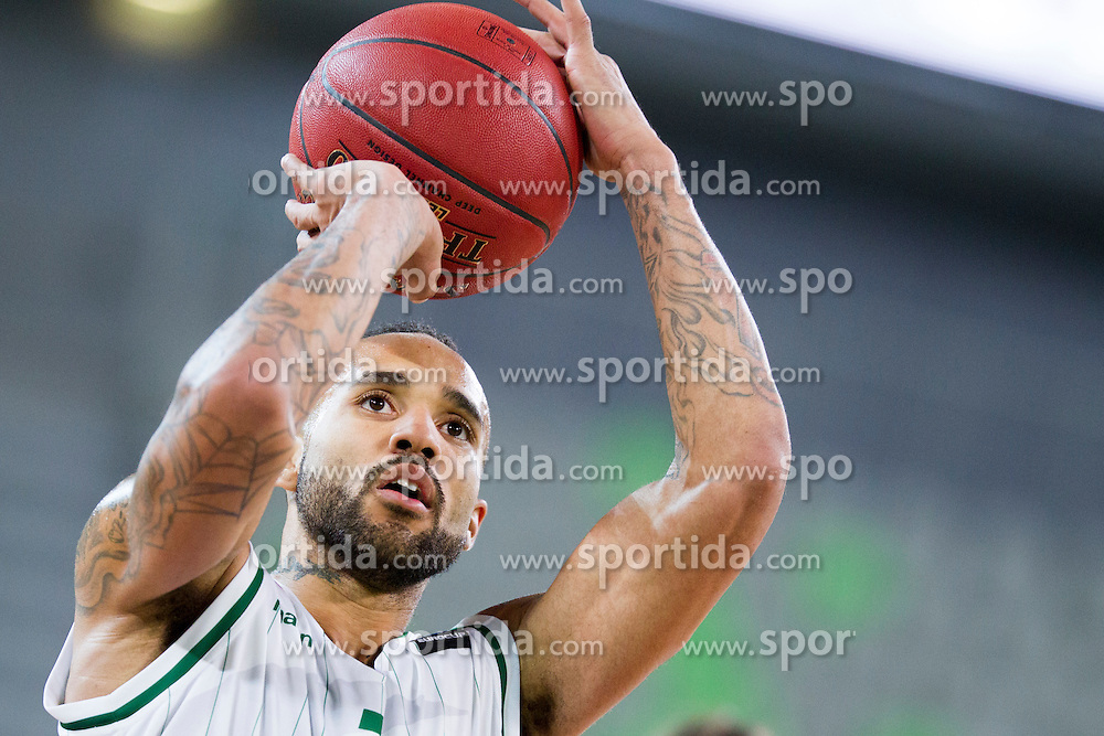 Zack Wright #3 of KK Union Olimpija during basketball match between KK Union Olimpija Ljubljana and Dolomiti Energia Trento (ITA) in Round #1 of EuroCup 2015/16, on October 14, 2015 in Arena Stozice, Ljubljana, Slovenia. Photo by Urban Urbanc / Sportida