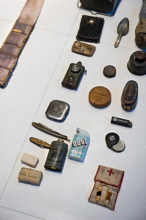 German toiletries from world war one in the Museum of the Great War (Historial de la Grande Guerre) in Péronne, France