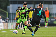 Forest Green Rovers Liam Shephard(2) passes the ball forward during the EFL Sky Bet League 2 match between Forest Green Rovers and Plymouth Argyle at the New Lawn, Forest Green, United Kingdom on 16 November 2019.
