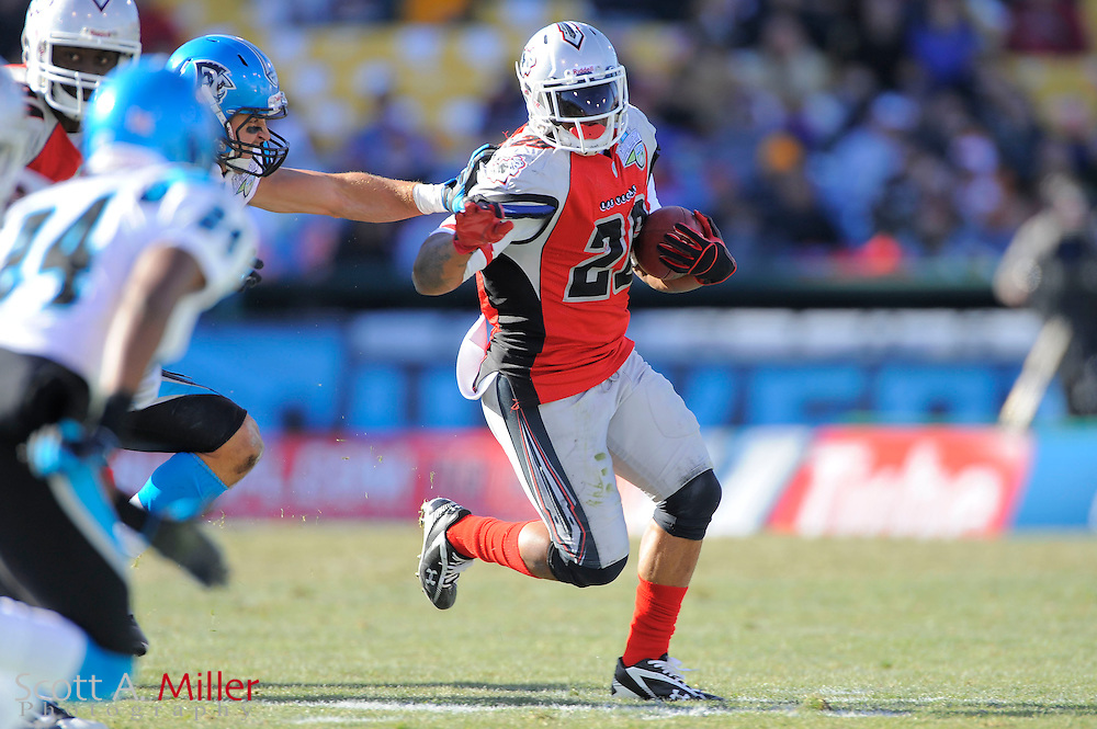 Las Vegas Locomotives running back Marcel Shipp (26) during the United Football League championship game against the Florida Tuskers at Rosenblatt Stadium on Nov. 27, 2010 in Omaha, Nebraska. Las Vegas won the game 23-20...©2010 Scott A. Miller