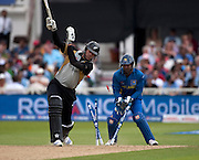 Jacob Oram is bowled by Isuru Udana during the ICC World Twenty20 Cup match between New Zealand and Sri Lanka at Trent Bridge. Photo © Graham Morris (Tel: +44(0)20 8969 4192 Email: sales@cricketpix.com)