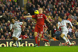 05.11.2011, Anfield Stadion, Liverpool, ENG, Premier League, FC Liverpool vs Swansea City, im Bild Liverpool's Dirk Kuyt in action against Swansea City  // during the premier league match between FC Liverpool vs Swansea City at Anfield Stadium, Liverpool, EnG on 05/11/2011. EXPA Pictures © 2011, PhotoCredit: EXPA/ Propaganda Photo/ David Rawcliff +++++ ATTENTION - OUT OF ENGLAND/GBR+++++