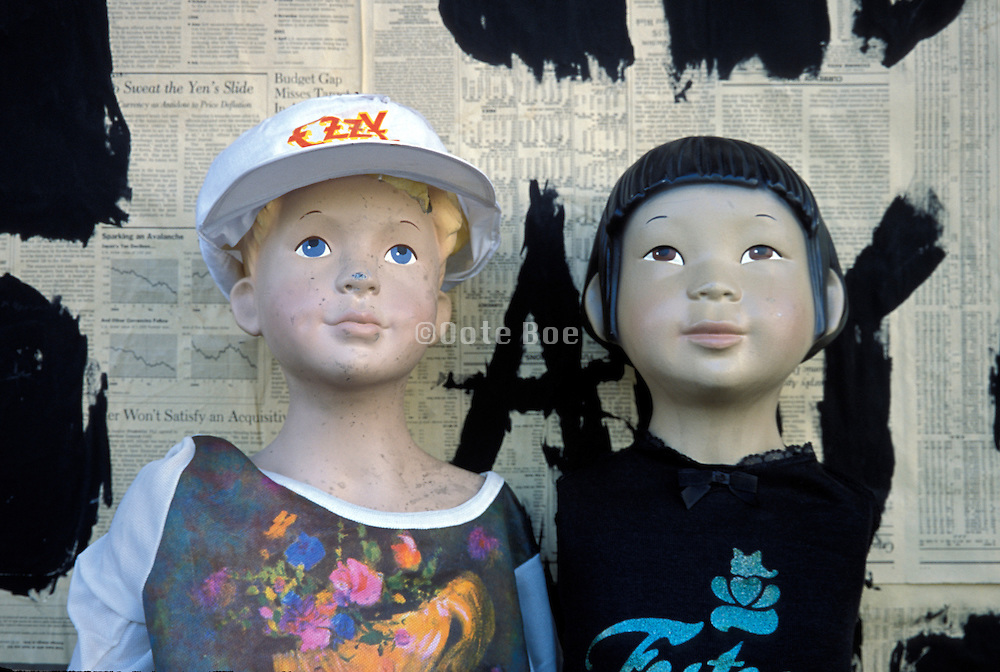boy and girl mannequin busts