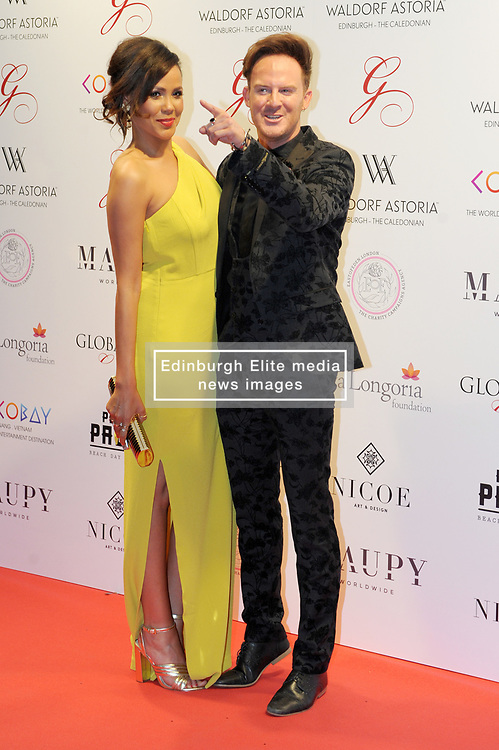 The Global Gift Gala Red Carpet, Wednesday 17th May 2017<br /> <br /> Jean Johansson and Phil MacHugh arrive on the red carpet<br /> <br /> The Global Gift Gala is a unique international initiative from the Global Gift Foundation, a charity founded by Maria Bravo that is dedicated to philanthropic events worldwide; to help raise funds and make a difference towards children and women across the globe.<br /> <br /> Charities benefiting from the 2017 Edinburgh Global Gift Gala include the  Eva Longoria Foundation, which aims to improve education and provide entrepreneurial opportunities for young women;  Place2Be which provides emotional and therapeutic services in primary and secondary schools, building children's resilience through talking, creative work and play; and the Global Gift Foundation with the opening of their first 'CASA GLOBAL GIFT', providing medical treatments and therapy for children affected by rare disease.<br /> <br /> (c) Aimee Todd | Edinburgh Elite media