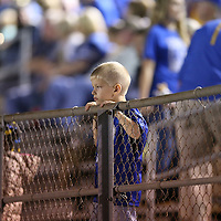 Adam Robison | BUY AT PHOTOS.DJOURNAL.COM<br /> A young Booneville fan watches the game from the stands Thursday night in Booneville.