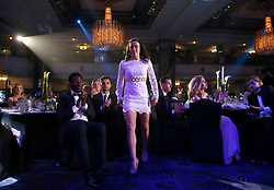 Manchester City Women's Lucy Bronze makes her way to the stage to collect the Women's Player's Player of the Year Award during the Professional Footballers' Association Awards 2017 at the Grosvenor House Hotel, London