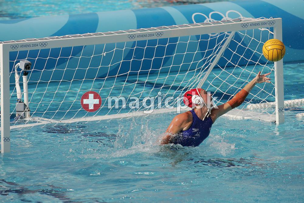 Waterpolo AUS - USA  (5:6) Bronze Medal Match, Women....AUS-Torhueterin kassiert einen Treffer....Photo by PATRICK B. KRAEMER (Photo by Patrick B. Kraemer / MAGICPBK)