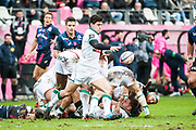 Thibault Baubagna (pau)during the French Championship Top 14 Rugby Union match between Stade Francais Paris and Pau on January 28, 2018 at Jean Bouin stadium in Paris, France - Photo Pierre Charlier / ProSportsImages / DPPI