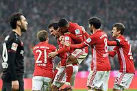 Fotball<br /> Tyskland<br /> Foto: Witters/Digitalsport<br /> NORWAY ONLY<br /> <br /> 2:1 Jubel v.l. Philipp Lahm, Torschuetze Mats Hummels, Thiago Alcantara, Javier ''Javi'' Martinez, Thomas Mueller (Bayern)<br /> Muenchen, 26.11.2016, Fussball, Bundesliga, FC Bayern München - Bayer 04 Leverkusen