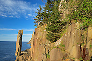 The 'Balancing Rock' on  St. Mary's Bay<br /> Near Tiverton on Long Island on the Digby Neck<br /> Nova Scotia<br /> Canada