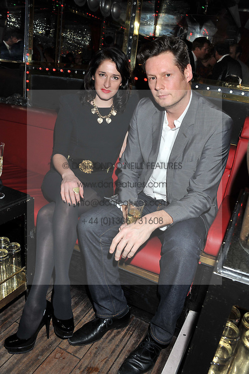 AMY MOLYNEAUX and PERCY PARKER at the ELEQT Global Launch Party held at the Rose club, 23 Orchard Street, London, W1 on 23rd February 2012. ELEQT is the world's most exclusive international luxury lifestyle social network.