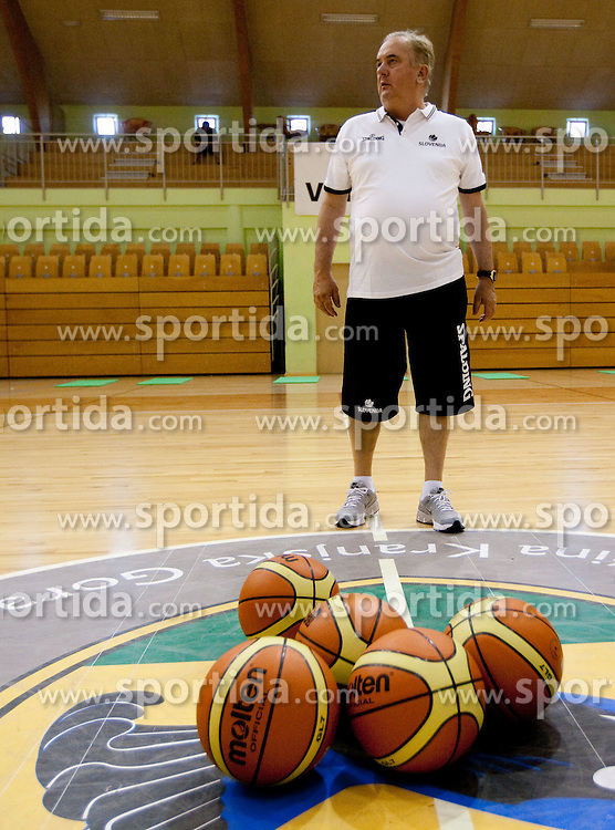 Head coach Bozidar Maljkovic during practice session of Slovenian National Basketball team during training camp for Eurobasket Lithuania 2011, on July 12, 2011, in Arena Vitranc, Kranjska Gora, Slovenia. (Photo by Vid Ponikvar / Sportida)