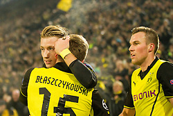 26.11.2013, Signal Iduna Park, Dortmund, GER, UEFA CL, Borussia Dortmund vs SSC Neapel, Gruppe F, im Bild Marco Reus (Borussia Dortmund), Jakub Blaszczykowski (Borussia Dortmund), bramka, radosc, gol, goal // Marco Reus (Borussia Dortmund), Jakub Blaszczykowski (Borussia Dortmund), bramka, radosc, gol, goal during UEFA Champions League group F match between Borussia Dortmund and SSC Napoli at the Signal Iduna Park in Dortmund, Germany on 2013/11/26. EXPA Pictures © 2013, PhotoCredit: EXPA/ Newspix/ Lukasz Skwiot / Foto Olimpik<br /> <br /> *****ATTENTION - for AUT, SLO, CRO, SRB, BIH, MAZ, TUR, SUI, SWE only*****