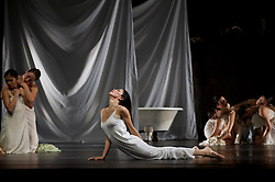 "© Copyright licensed to London News Pictures. 26/10/2010. Ruth Amarante (centre) as Iphigenie. ""Iphigenie auf Tauris"", Tanztheater Wuppertal Pina Bausch, Sadler's Wells. A rare performance of Gluck's masterpiece."