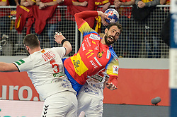 Sarmiento Daniel of Spain during handball match between National teams of Macedonia and Spain on Day 4 in Main Round of Men's EHF EURO 2018, on January 21, 2018 in Arena Varazdin, Varazdin, Croatia. Photo by Mario Horvat / Sportida