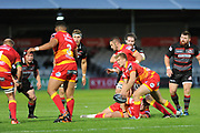 Owain Leonard was replacement scrum half for Dragons  during the Guinness Pro 14 2017_18 match between Edinburgh Rugby and Dragons Rugby at Myreside Stadium, Edinburgh, Scotland on 8 September 2017. Photo by Kevin Murray.