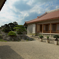Enjoying the royal gardens behind Shuri castle...views fit for a King