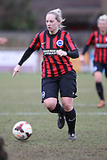 Jay Blackie during the Women's FA Cup match between Watford Ladies FC and Brighton Ladies at the Broadwater Stadium, Berkhampstead, United Kingdom on 1 February 2015. Photo by Stuart Butcher.