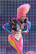 Nicki Minaj performing in support of Lil Wayne on the I Am Still Music Tour at the Scottrade Center in St. Louis, MO, on April 10, 2011.