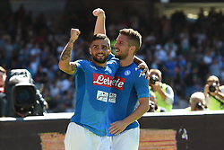 September 17, 2017 - Naples, Naples, Italy - Dries Mertens of SSC Napoli and Lorenzo Insigne of SSC Napoli celebrates after scoring during the Serie A TIM match between SSC Napoli and Benevento Calcio at Stadio San Paolo Naples Italy on 17 September 2017. (Credit Image: © Franco Romano/NurPhoto via ZUMA Press)