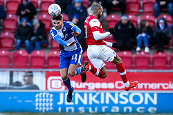 Luke Leahy of Bristol Rovers beats Kyle Vassell of Rotherham United to header - Mandatory by-line: Robbie Stephenson/JMP - 18/01/2020 - FOOTBALL - Aesseal New York Stadium - Rotherham, England - Rotherham United v Bristol Rovers - Sky Bet League One