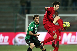 February 3, 2018 - Teramo, TE, Italy - Lorenzo De Grazia of Teramo Calcio 1913 in action during the Lega Pro 17/18 group B match between Teramo Calcio 1913 and Pordenone Calcio at Gaetano Bonolis stadium on February 03, 2018 in Teramo, Italy. (Credit Image: © Danilo Di Giovanni/NurPhoto via ZUMA Press)