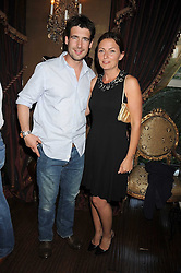 MATTHEW ROBERTSON and presenter DAVINA McCALL at a party hosted by the Supper Club in honour of Mary Greenwell held at Beach Blanket Babylon, Ledbury Road, London on 25th June 2008.<br /> <br /> NON EXCLUSIVE - WORLD RIGHTS