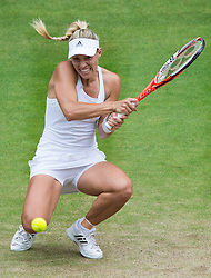 LONDON, ENGLAND - Saturday, July 9, 2016:  Angelique Kerber (GER) during the Ladies' Singles - Final match on day thirteen of the Wimbledon Lawn Tennis Championships at the All England Lawn Tennis and Croquet Club. (Pic by Kirsten Holst/Propaganda)